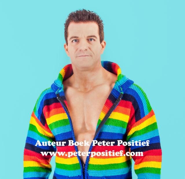 Logo Boek Peter Positief blauwe achtergrond